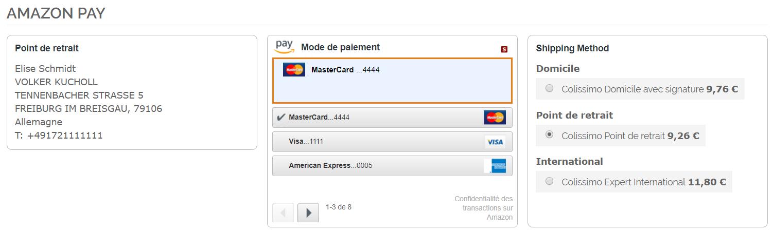 Colissimo avec Amazon Pay