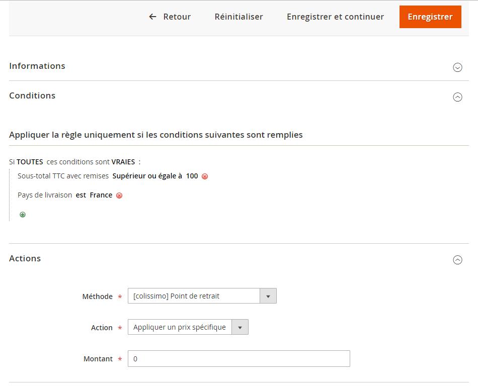 Configuration avancée des tarifs Colissimo